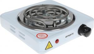 Плитка электр. 1 конф. 1000Вт спираль AMPIX AMP-8005